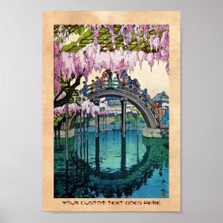 Het koele oosterse Japanse art. van Yoshida van de Poster