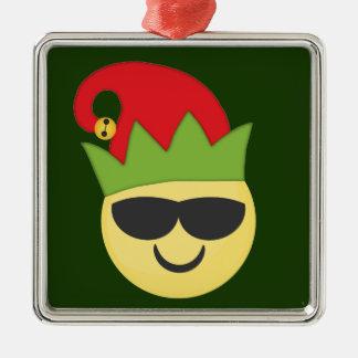 Het koele Ornament van Kerstmis van het Elf Emoji