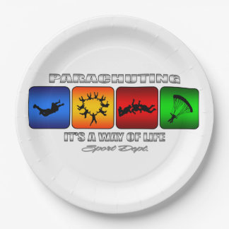 Het koele Parachuteren het is een Manier van het Papieren Bordje