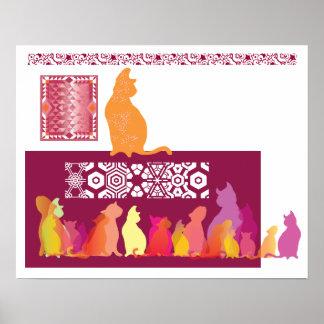 Het koele Poster van Katten
