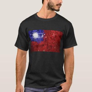 Het koele Retro Overhemd van de Vlag van Taiwan T Shirt