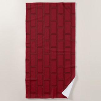 Het koele Rode Patroon van de Bakstenen muur van Strandlaken