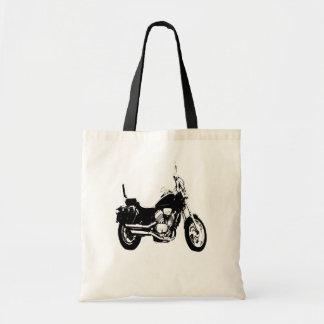 Het koele silhouet van de motorfietsfiets draagtas