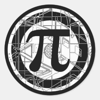 Het koele Symbool van Pi Ronde Sticker
