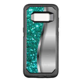 Het koele Turkoois schittert OtterBox Commuter Samsung Galaxy S8 Hoesje