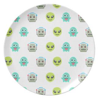 Het koele Vreemde Patroon van het Gezicht van de Melamine+bord
