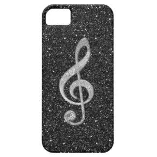 Het koele zilver schittert glanzende barely there iPhone 5 hoesje