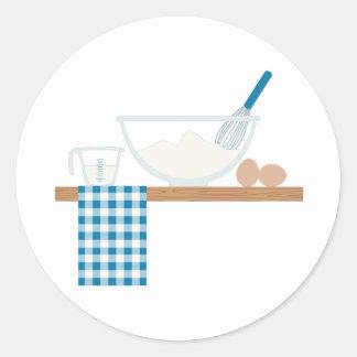 Het koken ronde sticker
