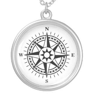 Het kompas nam zilveren ketting toe
