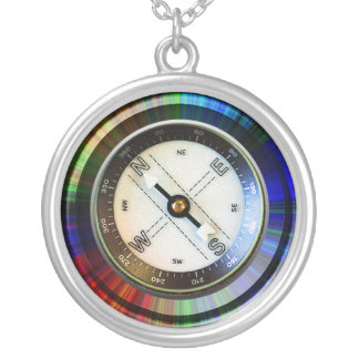 Het Kompas van Faux Zilver Vergulden Ketting