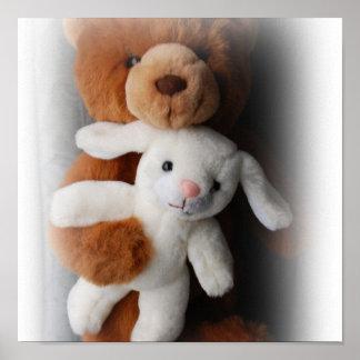 Het konijn en draagt de Druk van Pasen Poster