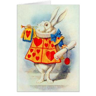 Het konijn in Alice in de Kaart van het