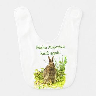 Het Konijn van het konijntje maakt Amerika opnieuw Baby Slabbetje