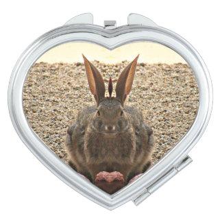 """Het """"konijntje van de liefde"""" maakt omhoog Compact Reisspiegeltjes"""