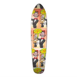 Het konijntje van de tovenaar gek voelen en het 18,1 cm old school skateboard deck