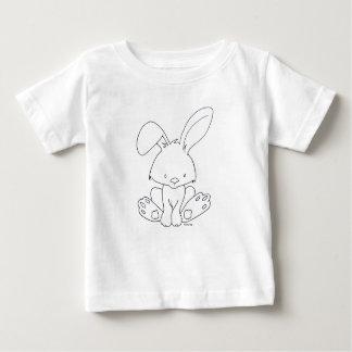 Het Konijntje van het baby, Colorize het zelf, DIY Baby T Shirts