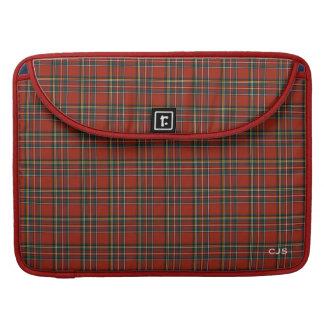 Het koninklijke Classic Red Plaid Monogram van Beschermhoezen Voor MacBooks