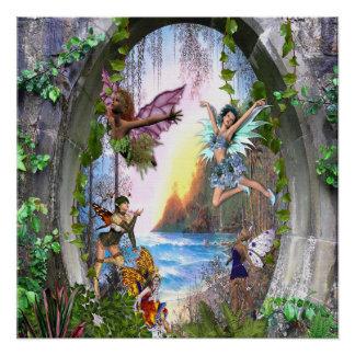 Het Koninkrijk van de fee Perfect Poster