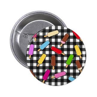 Het koninkrijk van het roomijs ronde button 5,7 cm