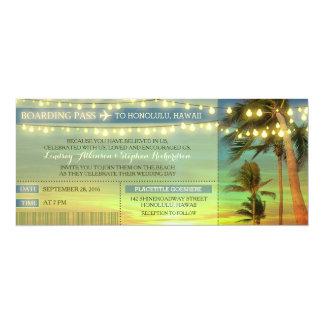 Het koord steekt de Kaartjes van de Instapkaart 10,2x23,5 Uitnodiging Kaart