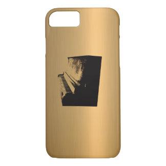Het koper-Gevolg van het Brons van de piano iPhone 8/7 Hoesje