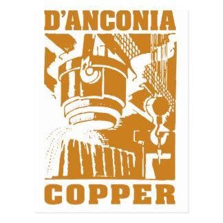 het Koper van d'Anconia/het Logo van het Koper Briefkaart