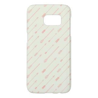 Het koraal Geschetste Patroon van Pijlen Samsung Galaxy S7 Hoesje