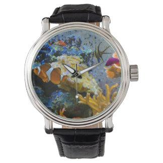 het koraaloceaan van ertsadervissen polshorloges