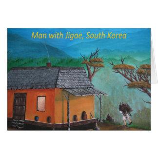Het Koreaanse Dragende Hout van het Man (Jigae) Kaart