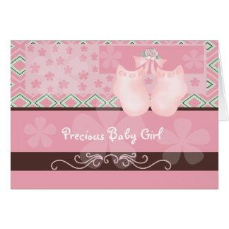 Het kostbare Meisje van het Baby Kaart