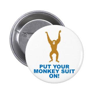 Het Kostuum van de aap Ronde Button 5,7 Cm