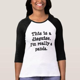 Het Kostuum van de panda T Shirt