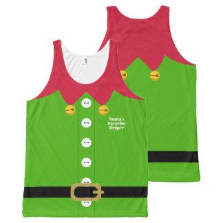 Het Kostuum van het Elf van Kerstmis All-Over-Print Tank Top
