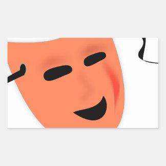 Het Kostuum van het Masker van Halloween Rechthoekvormige Sticker