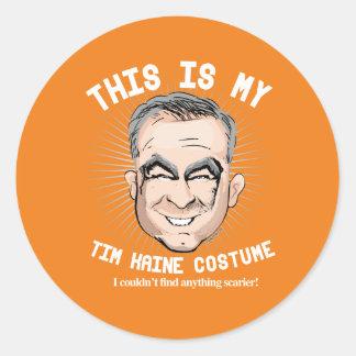 Het Kostuum van Kaine Halloween van Tim - ik kon Ronde Sticker