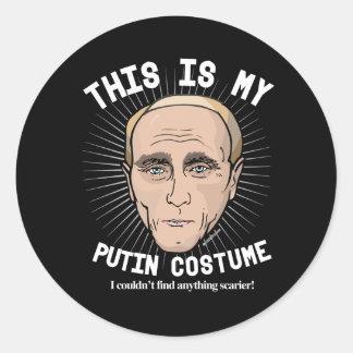 Het Kostuum van Putin Halloween van Vladimir - ik Ronde Stickers