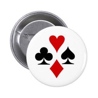Het kostuumkenteken van de speelkaart ronde button 5,7 cm