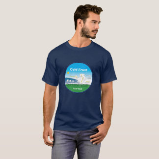 Het koudefront van de meteorologie - ringsblauw t shirt
