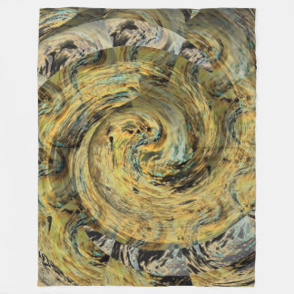 Het kronkelige Gouden Symbolische Gouden Ontwerp Fleece Deken