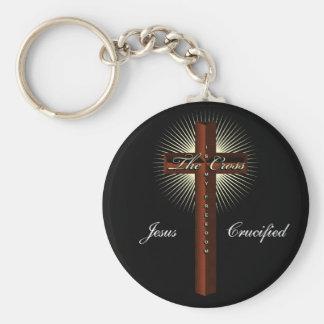 Het kruis is mijn vrijheid keychain basic ronde button sleutelhanger