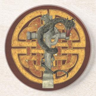 Het Kruis van de draak Zandsteen Onderzetter