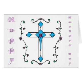Het kruis van de moederdag wenskaart