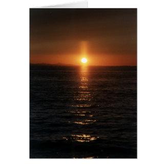 Het Kruis van de zonsondergang Briefkaarten 0