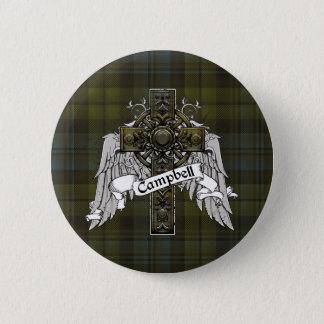 Het Kruis van het Geruite Schotse wollen stof van Ronde Button 5,7 Cm