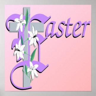 Het Kruis van Pasen met Poster Lilly