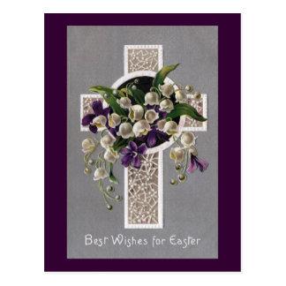 Het Kruis van Pasen van het lelietje-van-dalen Briefkaart