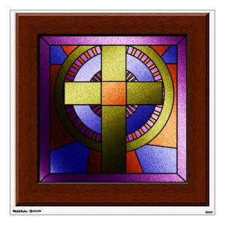 Het Kruis van Pasen van het Venster van de Kerk