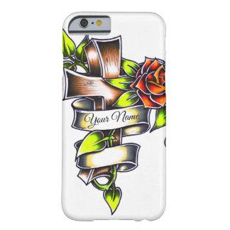 Het Kruis van Rosey van de Stijl van het tattoo - Barely There iPhone 6 Hoesje