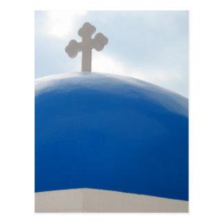 Het Kruis van Santorini in de Zon van de Middag Briefkaart