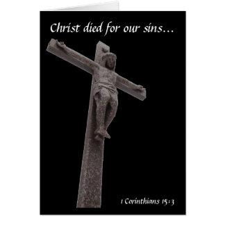 Het kruisbeeld Christus stierf voor Onze Zonden Kaart